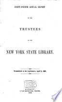 Annual Report Of The Trustees Of The State Library Of The State Of New York