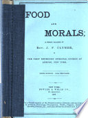 Food and morals Book