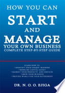 How You Can Start and Manage Your Own Business Book