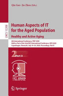 Human Aspects of IT for the Aged Population  Healthy and Active Aging