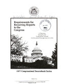 Requirements for Recurring Reports to the Congress