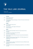 Yale Law Journal  Volume 123  Number 5   March 2014