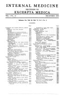 Excerpta Medica. Section 6: Internal Medicine