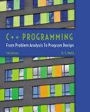 C   Programming  From Problem Analysis To Program Design