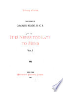 It is never too late to mend Book PDF