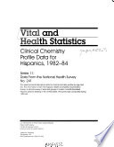 Clinical Chemistry Profile Data for Hispanics, 1982-84