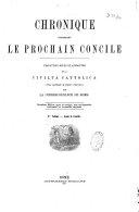 Chronique concernant le prochain Concile