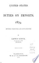 United States Duties on Imports Book
