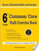 6th Grade Common Core Math Exercise Book Book