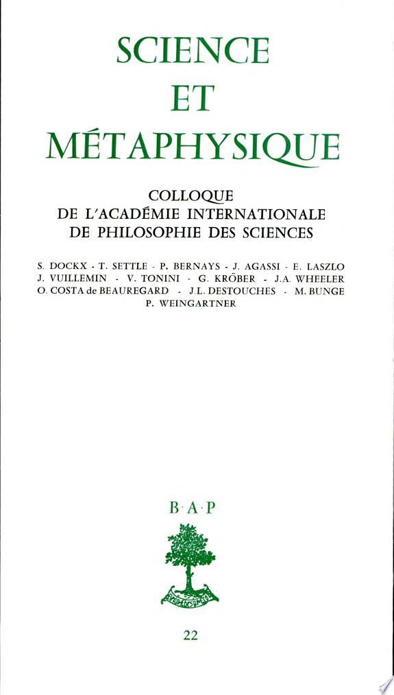 Science et métaphysique