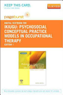 Psychosocial Conceptual Practice Models in Occupational Therapy Book