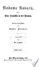 Madame Bovary oder eine Französin in der Provinz