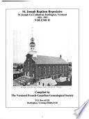 St. Joseph Baptism Repertoire, St. Joseph Co-Cathedral, Burlington, Vermont, 1834-1963