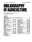 Bibliography Of Agriculture With Subject Index Book PDF