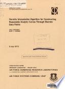 Hermite Interpolation Algorithm for Constructing Reasonable Analytic Curves Through Discrete Data Points