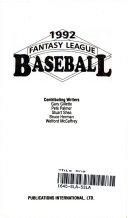 Fantasy League Baseball  1992