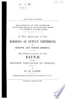 The Relations of the Horizons of Extinct Vertebrata of Europe and of North America Book