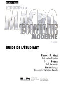 Introduction à la macroéconomie moderne. Guide de l'étudiant