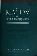 The Review of the Polish Academy of Sciences Book