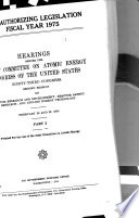 AEC Authorizing Legislation  Fiscal Year 1975  Reactor research and development  reactor safety research  and applied energy technology
