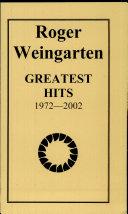 Roger Weingarten Greatest Hits