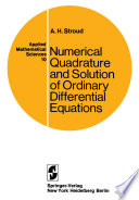 Numerical Quadrature and Solution of Ordinary Differential Equations