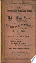 The Terrifically Thrilling Poem of  The Fair Inez   Or  The Lone Lady of the Crimson Cliff