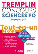 Pdf Tremplin Concours Sciences Po Tout-en-un 2022 Telecharger