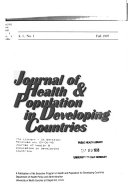 Journal of Health   Population in Developing Countries