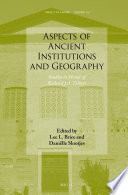 Aspects Of Ancient Institutions And Geography