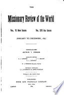 The Missionary Review Of The World
