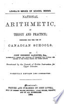 National Arithmetic in Theory and Practice, etc