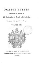 College rhymes, contributed by members of the universities of Oxford and Cambridge ebook