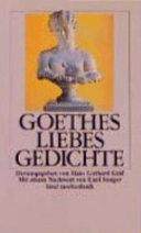 Goethes Liebesgedichte Johann Wolfgang Von Goethe Google