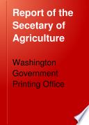 Report of the Secetary of Agriculture