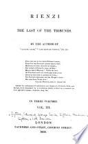 Rienzi  the Last of the Tribunes