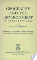 Geography And The Environment In Southeast Asia Book PDF