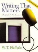 Writing That Matters