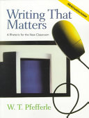 Writing That Matters Book