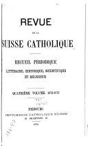 Revue de Fribourg