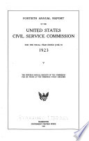 Annual Report   United States Civil Service Commission