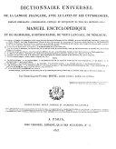 Dictionnaire universel de la langue francaise avec le latin et les etymologies etc. 6. ed. ... augm