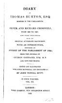 Diary of Thomas Burton, 3