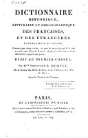 Dictionnaire historique, littéraire et bibliographique des françaises, et des étrangères naturalisées en France