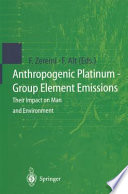 Anthropogenic Platinum Group Element Emissions Book PDF