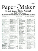 The Paper Maker And British Paper Trade Journal