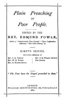 Penny monthly sermons  Plain preaching to poor people  ed  by E  Fowle