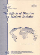 The Effects of Disasters on Modern Societies