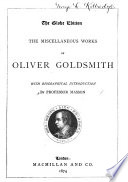 The Miscellaneous Works of Oliver Goldsmith