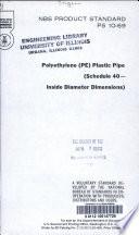 Polyethylene  PE  Plastic Pipe